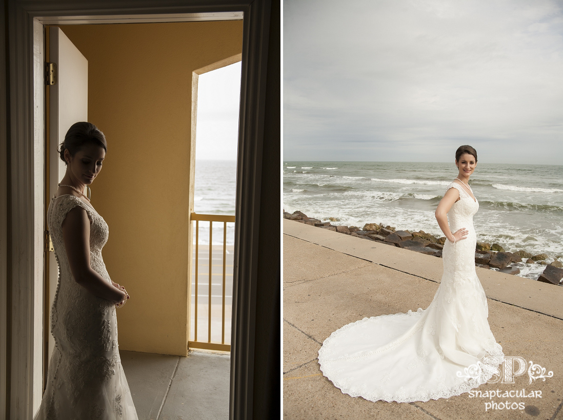 kourtne bridal portraits on galveston seawall, galveston wedding photographer